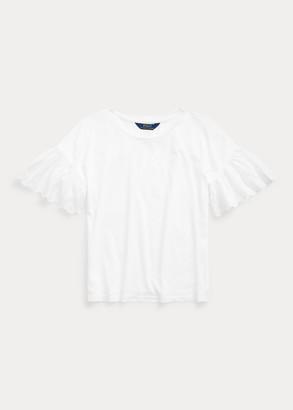 Ralph Lauren Eyelet Cotton-Modal Top