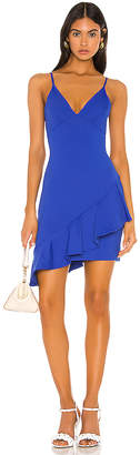 Susana Monaco Thin Strap Wrap Ruffle Dress