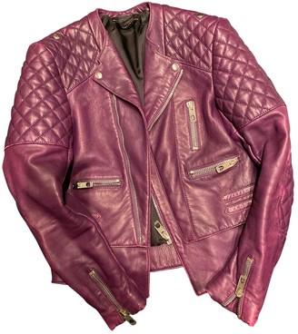 Balenciaga Purple Leather Jackets