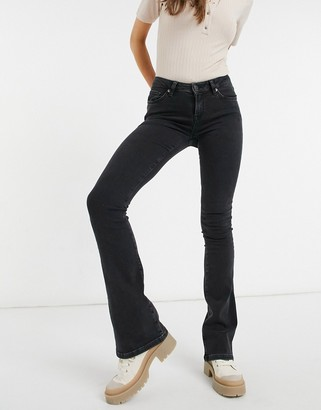 Selected bootcut jean in washed black