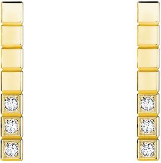Chopard Yellow Gold and Diamond Ice Cube Pure Earrings