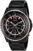 GUESS GUESS? Men's U0478G3 Ionic Plated Multi-Function Watch with Rose Gold-Tone Accents
