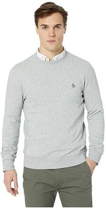 Original Penguin Sticker Pete Fleece Sweatshirt (Rain Heather) Men's Sweatshirt