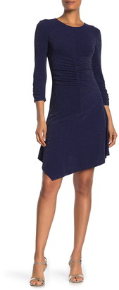 Vince Camuto Sparkle Knit Ruched Bodycon Dress
