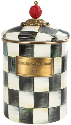 Mackenzie Childs MacKenzie-Childs - Courtly Check Enamel Canister - Medium