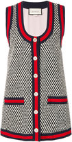Gucci GG Web tweed gilet - women - Silk/Cotton/Polyamide/Viscose - 40
