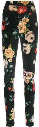 ATTICO floral print skinny trousers