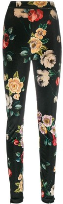 The Attico Floral Print Skinny Trousers