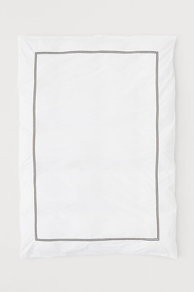 H&M Cotton Percale Duvet Cover - White