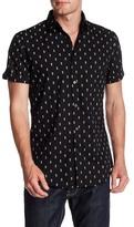 Sovereign Code Short Sleeve Pineapple Print Woven Slim Fit Shirt
