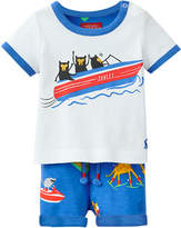 Joules Sea Fun Cotton T-Shirt & Shorts Set - Size 12-18m