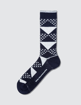 White Mountaineering Triangle Jacquard Middle Socks