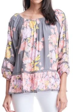 Fever Floral-Print Off-The-Shoulder Top