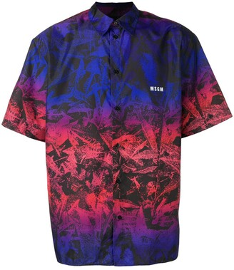 MSGM Printed Loose-Fit Shirt
