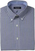 Nautica Men's Royal Blue//White Check - Button Down