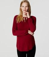 LOFT Maternity Tie Neck Sweater