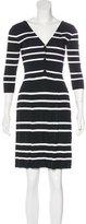 Christian Dior Striped Knee-Length Dress