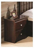 2-Drawer Nightstand in Dark Cappuccino Finish