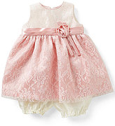 Jayne Copeland Baby Girls 3-24 Months Glitter Lace Pleated A-Line Dress