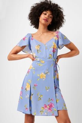 French Connenction Eme Crepe Faux Wrap Dress