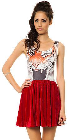 Reverse The Tiger Velvet Dress