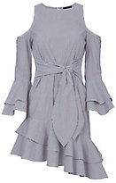 Exclusive for Intermix Ellie Cold Shoulder Asymmetric Dress