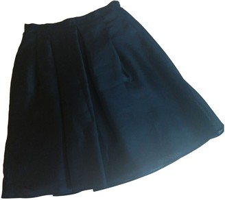 Anna Molinari Black Silk Skirt for Women