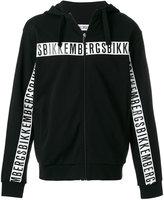 Dirk Bikkembergs logo zip up sweatshirt
