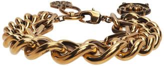 Alexander McQueen Gold Medium Charm Chain Bracelet