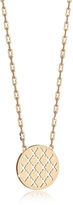 Rebecca Melrose Yellow Gold Over Bronze Necklace w/Round Charm