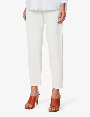Ssone Yarrow wide-leg high-rise organic cotton and recycled polyester-blend jeans