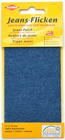 Camilla And Marc Kleiber 17 x 15 cm Denim Jeans Repair Patch, Middle Blue