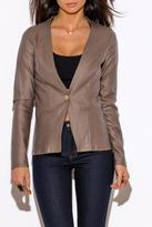W by Wenjie Mocha Cutout Jacket