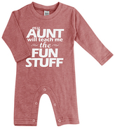 Urban Smalls Heather Red 'My Aunt Will Teach Me' Playsuit - Infant
