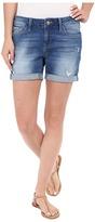 Mavi Jeans Pixie Mid-Rise Boyfriend Shorts in Aqua Vintage