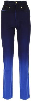 Alberta Ferretti Gradient Effect Denim Jeans