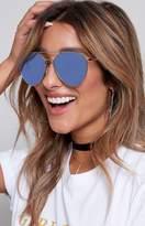 Quay Indio Sunglasses Silver Blue