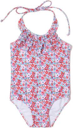 Shoshanna Ditzy Blossom Ruffle One-Piece Swimsuit, Size 6-14