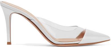 Gianvito Rossi Plexi 85 Patent-leather And Pvc Mules - White