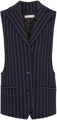 See by Chloe Pinstriped Stretch-crepe Vest