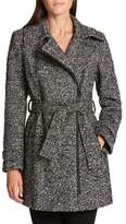 Donna Karan Asymmetrical Zip Coat