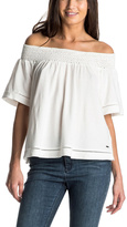 Roxy Hey Tonight Off The Shoulder Tee With Crochet