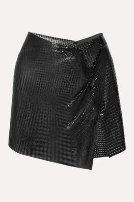 Fannie Schiavoni Elsa Asymmetric Chainmail Wrap Mini Skirt - Black
