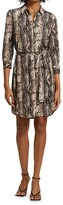 Thumbnail for your product : L'Agence Addison Snake Print Shirtdress