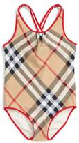 Burberry 'Beadnell' Check Print One-Piece Swimsuit