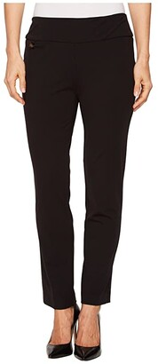 Lisette L Montreal Kathryne Fabric Ankle Pants (Black) Women's Casual Pants