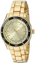 Rampage Women's 'Colored Dial Band' Quartz Metal and Alloy Watch, Color:Gold-Toned (Model: RP1091GDBK)