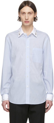 Burberry Blue Striped Formal Shirt