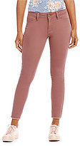 YMI Jeanswear Raw-Hem Ankle Skinny Jeans