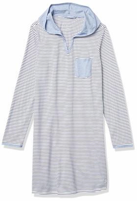 Nautica Women's Striped Hooded Sleepshirt